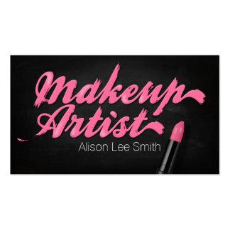 Makeup Artist/Pink Lipstick Pack Of Standard Business Cards