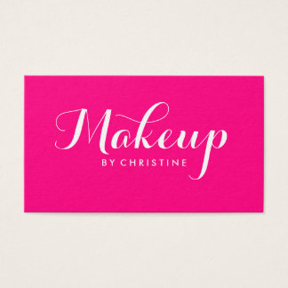 Makeup Artist Pink Minimalist Business Card