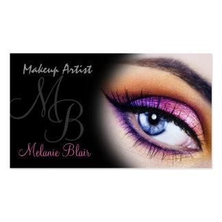 Makeup Artist Purple Blue Eye Business Card