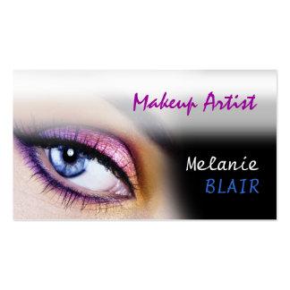 Makeup Artist Purple Eye Business Card