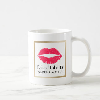 Makeup Artist Red Lips Modern Beauty Salon Coffee Mug