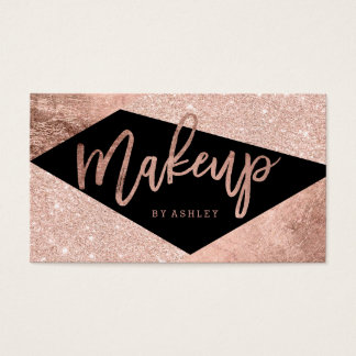 Makeup artist rose gold color block typography