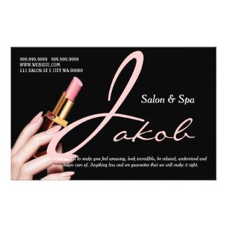 Makeup Artist Salon Spa Nails Hair Flyer Menu