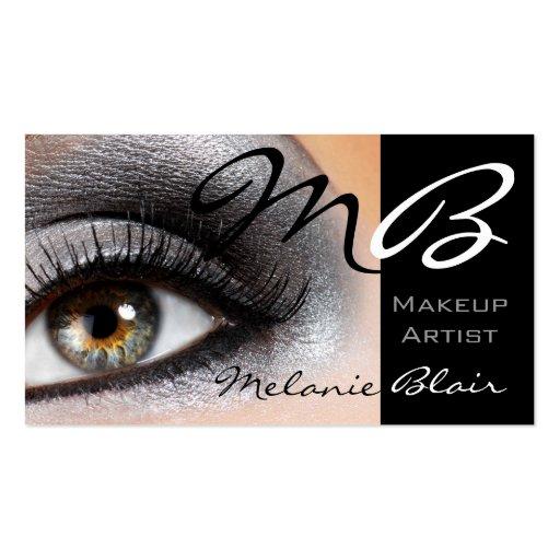 Makeup Artist Silver Smokey Eye Business Card