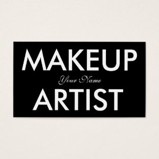 Makeup Artist, Simple Chic Black White Text Business Card