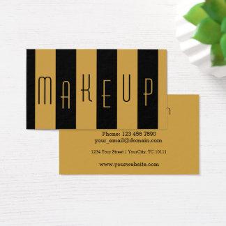 Makeup Artist Striped Business Card