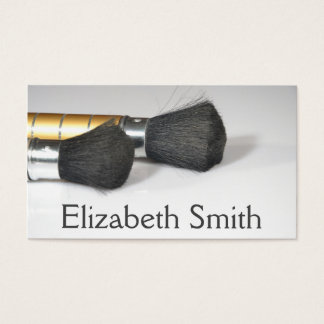 Makeup Artist & Stylist With Brushes Business Card