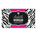 Makeup Artist - Trendy Zebra Print Hot Pink Pack Of Standard Business Cards