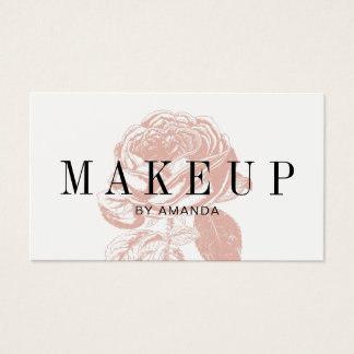 Makeup Artist Vintage Rose Salon Appointment Business Card