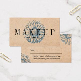 Makeup Artist Vintage Sunflower Salon Appointment Business Card