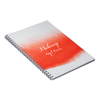 Makeup Artist Watercolor Coral Notebook