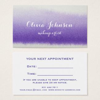 Makeup Artist Watercolor Lavender Business Card