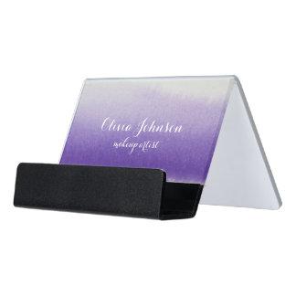 Makeup Artist Watercolor Lavender Desk Business Card Holder