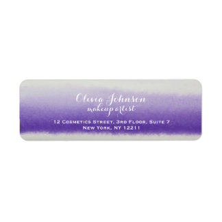 Makeup Artist Watercolor Lavender Return Address Label