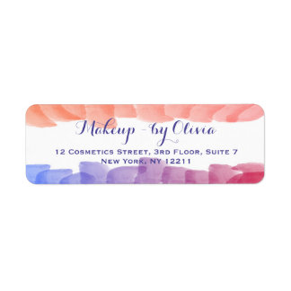 Makeup Artist Watercolor Paint Strokes Return Address Label