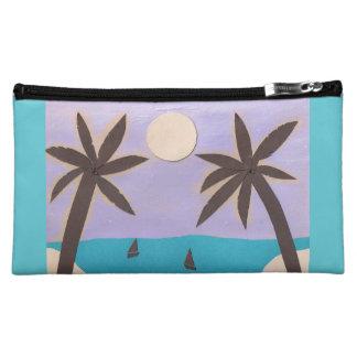 Makeup Bag with Island Scene