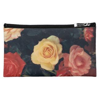 Makeup Bag with Rose Design