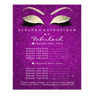 Makeup Beauty Salon Glitter Flyer Gold Pink Magent
