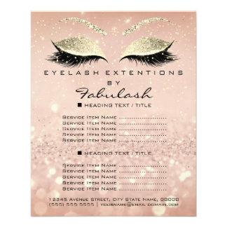 Makeup Beauty Salon Glitter Flyer Pink Gold Skinny