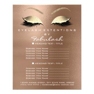 Makeup Beauty Salon Gold Glitter Flyer Coffe Lux