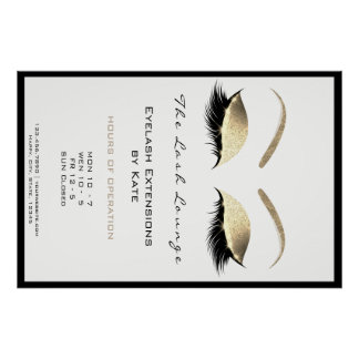 Makeup Beauty Salon Name Gold Glam Adress Opening Poster