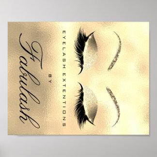 Makeup Beauty Salon Name Gold Glitter Glam 1 Poster