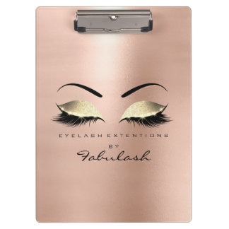 Makeup Beauty Studio Lashes Rose Gold Blush Clipboard