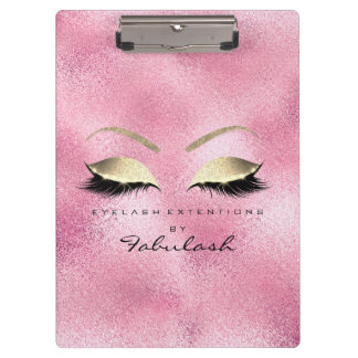 Makeup Beauty Studio Lashes Rose Gold Glam Clipboard