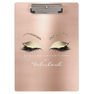 Makeup Beauty Studio Lashes Rose Gold White Clipboard