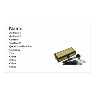 Makeup Brushes Wicker Box Business Card Templates