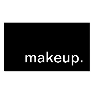 makeup. pack of standard business cards