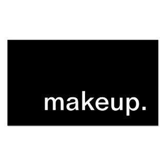 makeup. business card templates