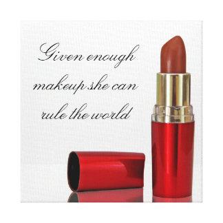 Makeup canvas canvas print