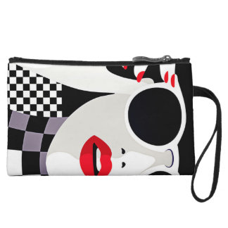 makeup checkered gilry mini clutch
