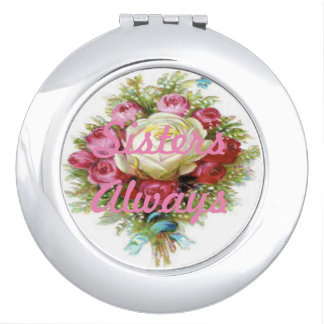 "makeup compact ""summer rose"" vanity mirrors"