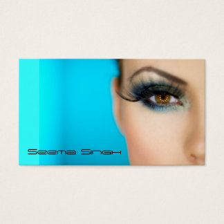 Makeup Cosmetics artist half face Business Card