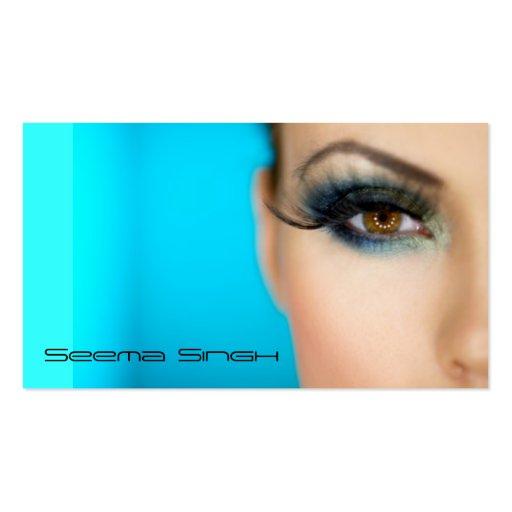 Makeup Cosmetics artist half face Business Card Templates