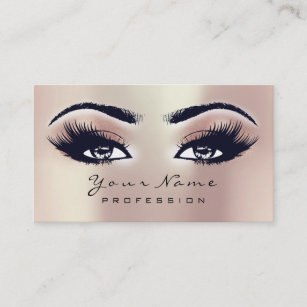 8d95cea6cca Makeup Eyebrow Eyes Lashes Glitter SPA Pink Rose Business Card