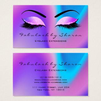 Makeup Eyebrow Lashes Glitter Skinny Miami Beach Business Card