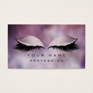 Makeup Eyes Lashes Glitter Glass Caffe Noir Blush Business Card