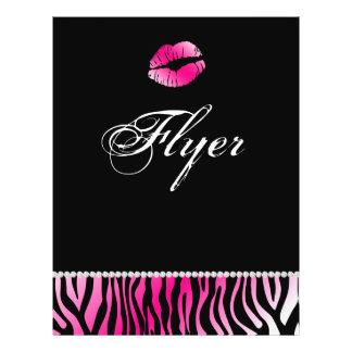 Makeup Flyer Hair Salon Zebra Nail Spa Pink