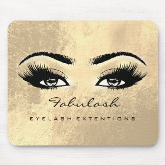 Makeup Gold Browns Eyes Beauty Lashes Extension Mouse Pad