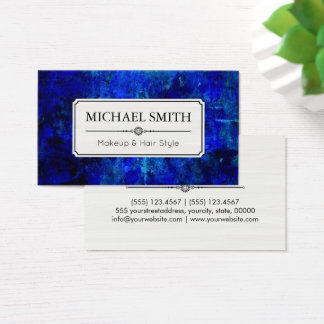 Makeup Hair Style Modern Blue Abstract Business Card