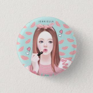 Makeup Jennie 2¼ Inch Round Button