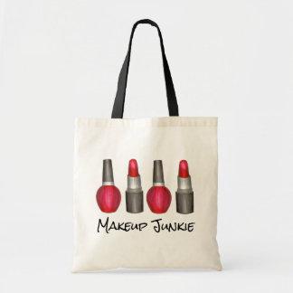 Makeup Junkie Red Lipstick Nail Polish Beauty Tote