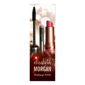 Makeup Lipstick Eyebrow Pencil Modern Gold Glitter Pack Of Skinny Business Cards