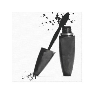 Makeup mascara fashion beauty glamour black white canvas print