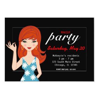 Makeup party card