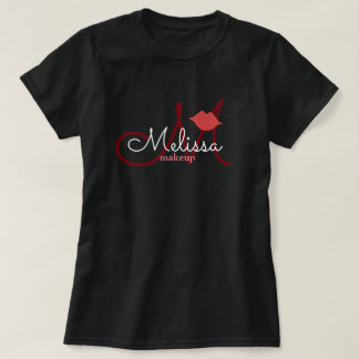 makeup salon name uniform black T-Shirt