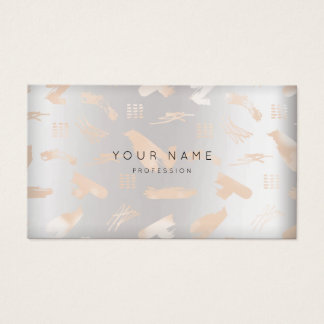 Makeup Silver Gray Blush-strokes Appointment Business Card